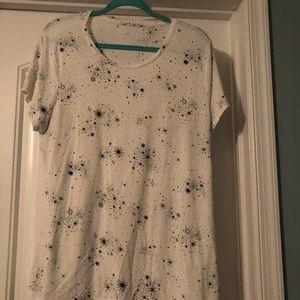 Apt 9 White Dress Shirt with Black Fireworks